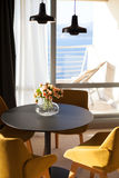 Hotel room with sea view Stock Image