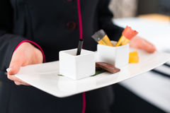 Hotel Room service serving food Royalty Free Stock Photo