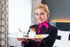 Hotel Room service serving food Royalty Free Stock Image