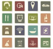 hotel room services icon set Royalty Free Stock Images