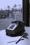 Hotel room telephone. Instructions of hotel room phone service Royalty Free Stock Photography