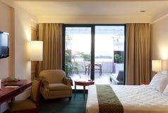 Hotel room terrace Stock Image