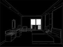 Hotel Room Vector 01 Stock Image