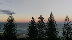 Hotel room views. Sunrise view from a hotel room in Gold Coast Australia Royalty Free Stock Photo
