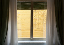 Hotel room with wall view. Royalty Free Stock Photos