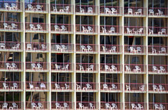 Hotel rooms. Abstract of hotel rooms with chairs on the balcony Royalty Free Stock Photos