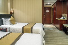 Hotel Rooms. Traders Hotel, hotel room internal environment Royalty Free Stock Photos