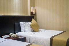 Hotel Rooms. Traders Hotel, hotel room internal environment Royalty Free Stock Photography