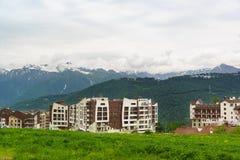 Hotel-Rosa Springs-Skiort Stockfotografie