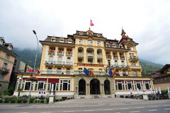 Hotel Royal St Georges in Interlaken, Switzerland Stock Photo