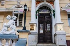 Hotel Rudolf A cidade velha de Karlovy varia, República Checa fotos de stock