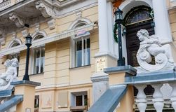 Hotel Rudolf. Old Town of Karlovy Vary, Czech Republic royalty free stock images
