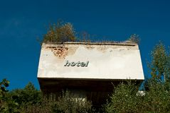 Hotel ruins Stock Photography