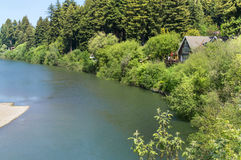 Hotel on the Russian River. Hotel on the bank of the Russian River in California Stock Photo
