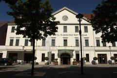 Hotel Russischer Hof in Weimar, Duitsland stock foto's