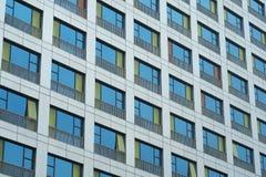 Hotel's Colorful Windows Stock Photo