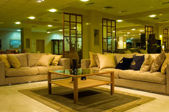 Hotel's interior with sofas Stock Image