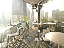 Hotel's sky lounge Royalty Free Stock Image