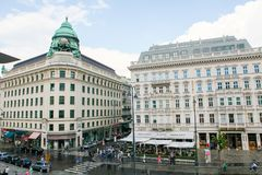 Hotel Sacher and Generali Building in Vienna, Austria Royalty Free Stock Photos