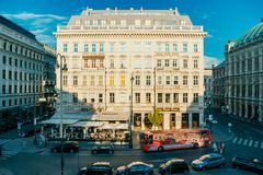 Hotel Sacher stock photo