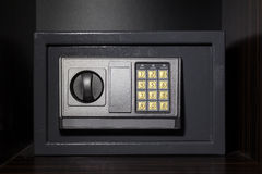 Hotel safe box with digital lock Stock Photos