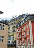 Hotel Salzburger Hof em Gastein mau, Áustria fotografia de stock