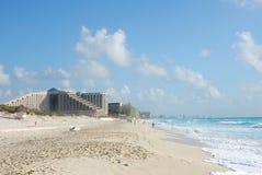 Hotel on sandy beach Royalty Free Stock Photography