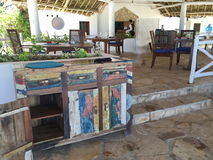 Hotel in Sansibar Stockfotos