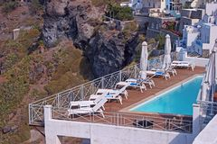 Hotel in Santorini, Greece Stock Images
