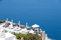 Hotel in Santorini Stock Photography