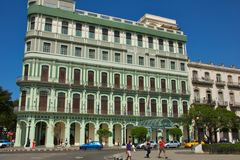 Hotel Saratoga in Havana. Havana in Cuba is noted for its history, culture, architecture and monuments. Its historic centre was declared a UNESCO World Heritage Royalty Free Stock Images