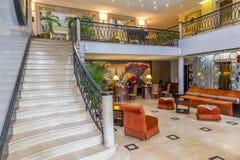Hotel Saratoga in Havana, Cuba. View of the lobby area in the Hotel Saratoga in Havana, Cuba Royalty Free Stock Photos