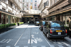Hotel Savoy - London. London, Westminster, UK - June 06 2014: Hotel Savoy main entrance Royalty Free Stock Photos
