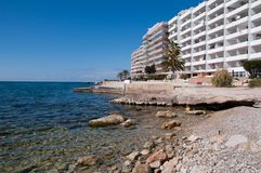Hotel Scenery of Santa Ponsa, Majorca, Spain Stock Photo