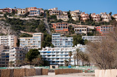 Hotel Scenery Of Santa Ponsa, Majorca, Spain. Image shows hotel scenery of Santa Ponsa, Mallorca, Spain Stock Photo