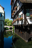 Hotel Schiefes Haus Ulm Landmark Germany Cottage House Water Stock Photography