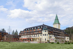 Hotel Schloss Elmau royal luxury residence in Bavarian Alpine va Stock Images