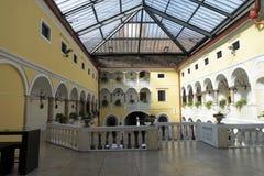 Hotel Schloss Weikersdorf. Residenz & Spa is located in a restored Renaissance Castle in Baden, near Vienna, in Austria. 1.8.2017 stock photography