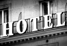 Hotel in Schwarzweiss stockbilder