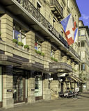 Hotel Schweizerhof Zurich building facade Royalty Free Stock Photos