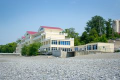 Hotel on sea beach Royalty Free Stock Image