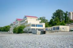Hotel on sea beach Royalty Free Stock Image