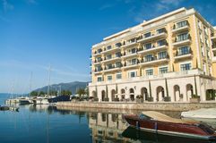 Hotel by sea Royalty Free Stock Photo