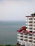 Hotel on the sea shore Stock Photos