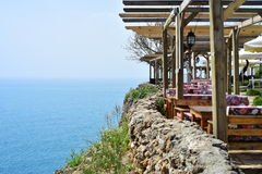 Hotel sea side. Turkish beach hotel, quite place , sea side Stock Photography
