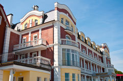 Hotel on the seafront Royalty Free Stock Image