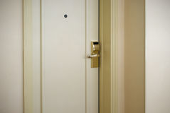 Hotel security door locks Royalty Free Stock Images