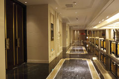 Hotel Semi-closed Corridor Royalty Free Stock Photo