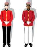 Hotel servant vector. Illustrations clip-art eps Stock Images