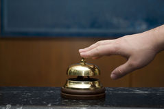 Hotel service bell Stock Image